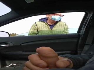 Handjob Rotschopf Öffentlicher Auto Public handjob,