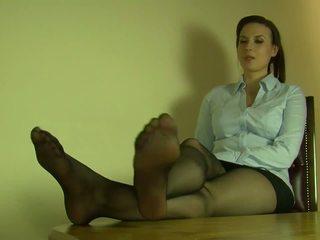 controleren voet fetish film, hd porn, nominale nylon film