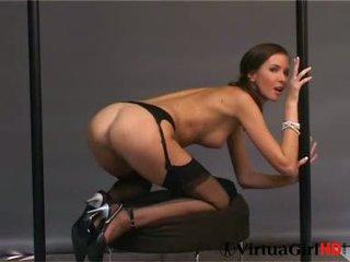 brunette, masturberen seks, naakt neuken