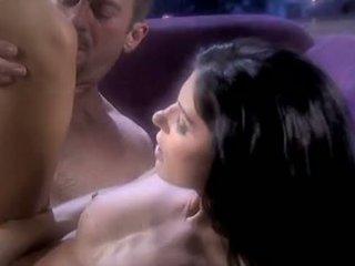 een brunette scène, zoenen seks, ideaal pijpbeurt tube