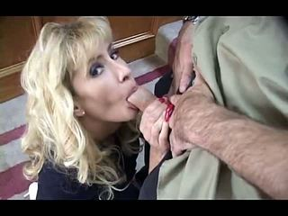 Blonde Mature MILF with Big Tits in Threesome Anal Mc