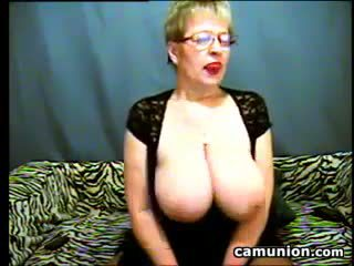 Busty Old Woman With Glasses