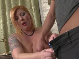 Boy Fucks and Cums on Sweet Mom with Saggy Tits: HD Porn c4