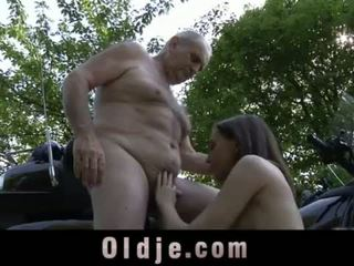 Young petite girl swallows old cum after grandpa cock ride <span class=duration>- 6 min</span>