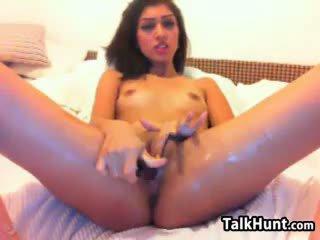 u brunette, ideaal speelgoed tube, controleren webcam
