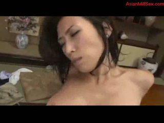 Milf fucked cum to tits sucking cock on the mattress