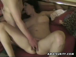 Busty amateur wife sucks and fucks with cumshot