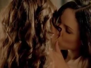 Anna Silk and Erin Karpluk Nude Lesbo Scene in Being...
