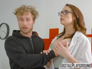 brunette, heet deepthroat seks, zien doggystyle neuken