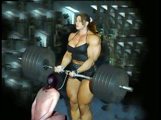 Female kultūrizmas fbb bodybuilder bbw moters dominavimas