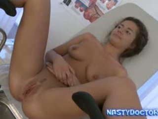 Fat Old Gynecologist Turns On Teen Pussy