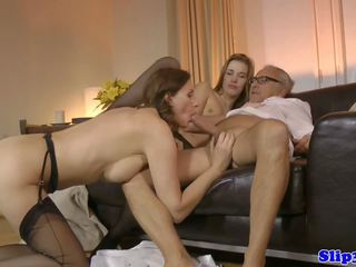 trio seks, oude + young, hd porn