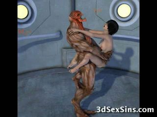 Creatures fick 3d scifi babes!
