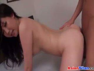 Beautiful Hairy Asian Housewife Pleasured
