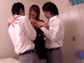 Big Titted Chinese Milf Momoka Nishina Shafts Pair Persons In The Locker Room