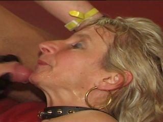 sperma slikken film, meer sperma scène, biseksueel neuken