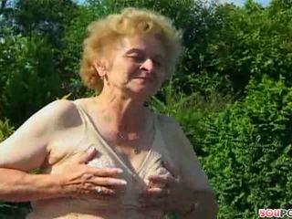 ouder porno, meer oma actie, controleren buiten-