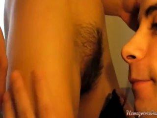brunette, vers orale seks film, plezier vaginale sex
