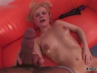 Filthy Blonde Whore With A Pumped Up Pussy Gets An