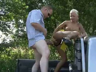 Hooker sexy cora gets picked up and fucked in a truck