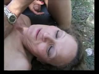 Anal games for a skinny french granny