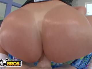 brunette, kwaliteit grote tieten, anaal scène
