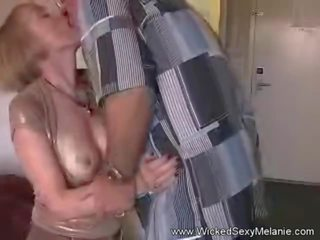 69 and a Creampie for Granny, Free Wicked Sexy Melanie Porn Video