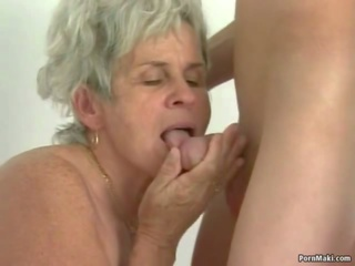 Hairy Granny Tastes Young Cock, Free Young Hairy Porn Video