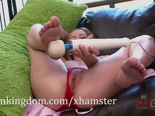 Hollie mack gets পরিচিত সঙ্গে ঐ hitachi magic wand