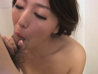 Japanese Mature Sucks Cock in Shower Uncensored JAV...