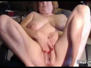 Big Fat Granny Masturbate Her Pussy Before Webcam