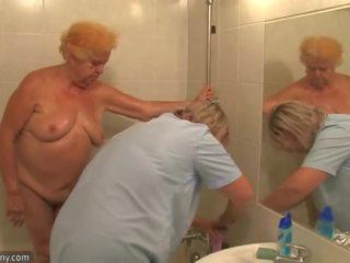 echt bbw tube, seksspeeltjes scène, groot oma