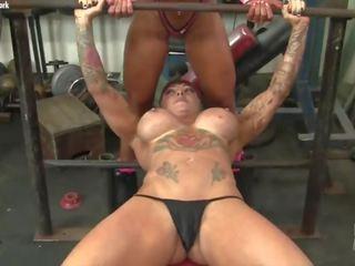 ideal fitness all, redhead, check big tits