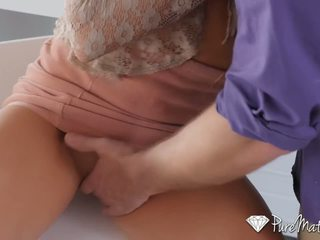 PureMature - Hot and horny house wife Kate Linn fucks her husband's friend