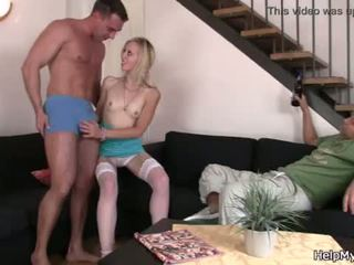Fuck my blonde wife while i watch <span class=duration>- 6 min</span>