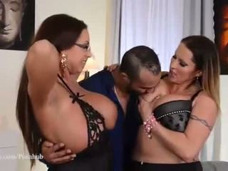 brunette hot, big boobs all, ideal 3some see