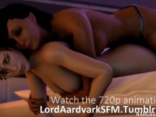 Sexy Ass and Horny Futa Babes Fucking in a Space Ship