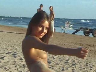 nieuw jong vid, zien tiener gepost, strand neuken