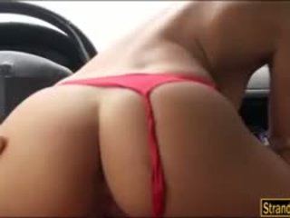 Booby amatérske hitchhiker nikita bellucci pounded v the cab