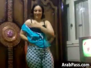 Cute And Curvy Arab Chick Stripping