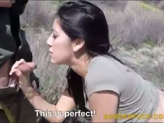Latin kimberly gates banged by border patrol officer