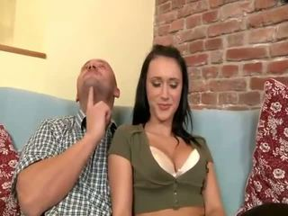 Young boy have fun with a horny mature couple