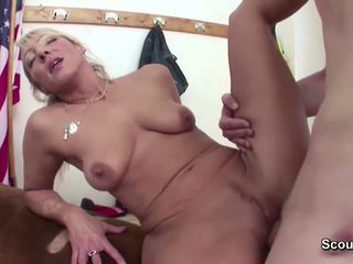 Female MILF Teacher Seduce Young Man to Fuck after.