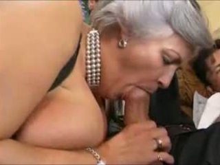 Grey-haired mbah in a gangbang