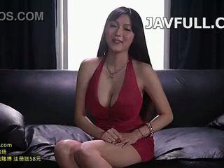 porno, grand, seins, came
