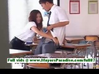 Yuki asada from idol69 mature asian teacher at school gets a blowjob