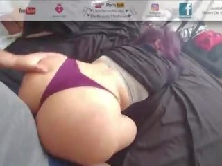 Nice Thick Juicy Booty Bouncin On Ma Dick Thong Fucking & Hairy Fetish