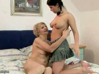 Granny enjoying lesbian sex