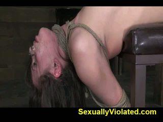 Casey Calvert gets bound and made to cum