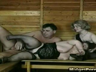 Guy neuken two midgets